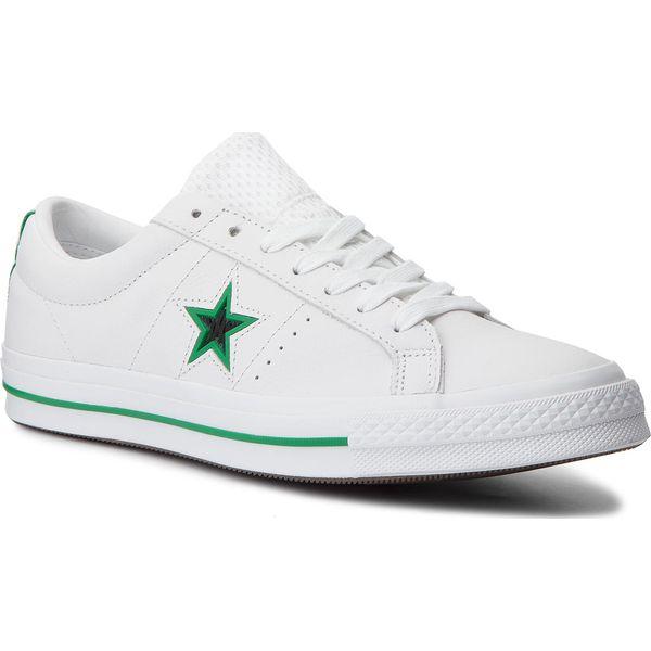 Tenisówki CONVERSE One Star Ox 161589C WhiteBlackConverse Green