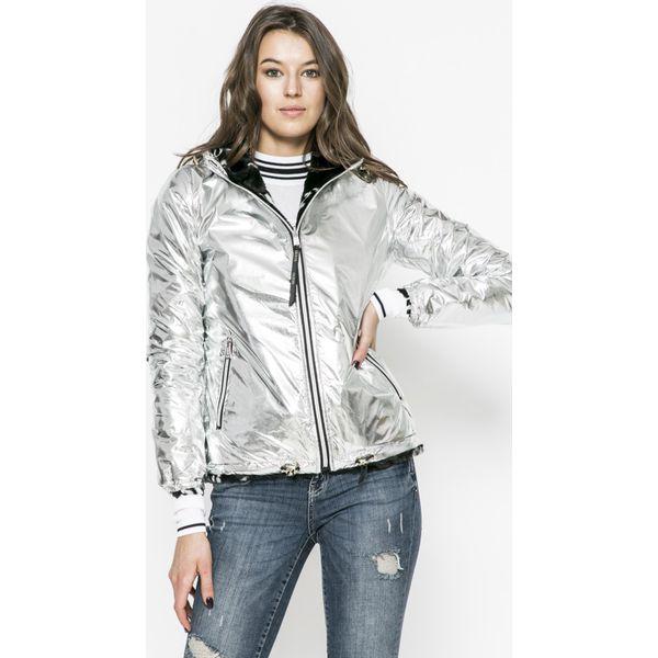 a1f509beac989 Guess Jeans - Kurtka dwustronna Franky - Szare kurtki damskie marki ...