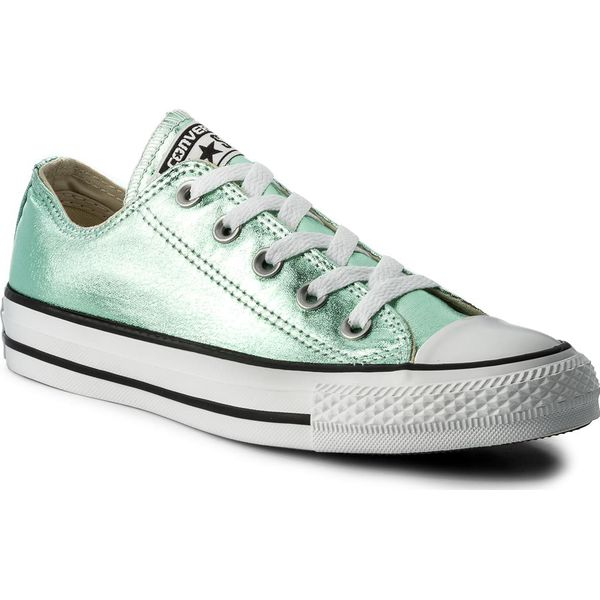 ab246b0043e27 Trampki CONVERSE - Ctas Ox 155562C Jade/Black/White - Zielone trampki i  tenisówki damskie marki Converse, z gumy. W wyprzedaży za 199.00 zł.
