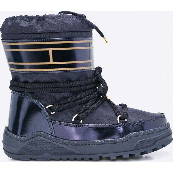 bdf13687a922e Tommy Hilfiger - Śniegowce Wanda - Szare botki damskie marki Tommy Hilfiger