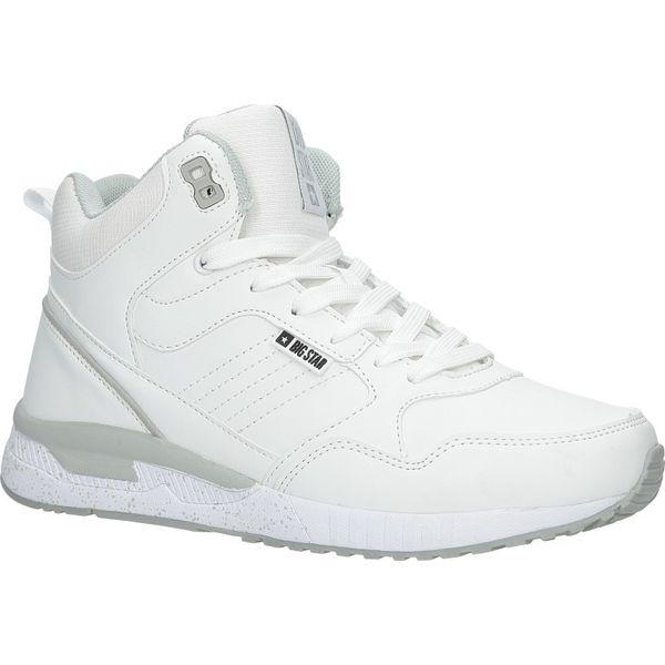 białe buty sportowe sneakersy ocieplane sznurowane big star bb274638