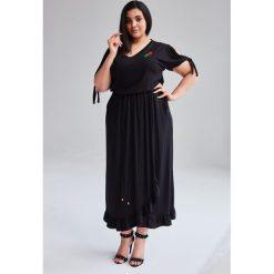 aadde0adee Czarna Sukienka Laura MAXI duże rozmiary OVERSIZE PLUS SIZE WIOSNA. Sukienki  damskie marki Moda Size