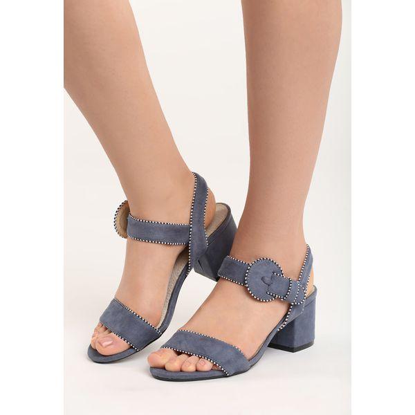 4325801c Granatowe Sandały Blue River - Niebieskie sandały damskie Born2be, z ...