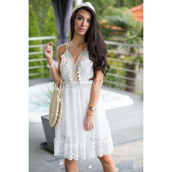 97b0740f8ccc59 Sukienka Sia Boho - Szare sukienki damskie marki Modaforyou, na lato ...