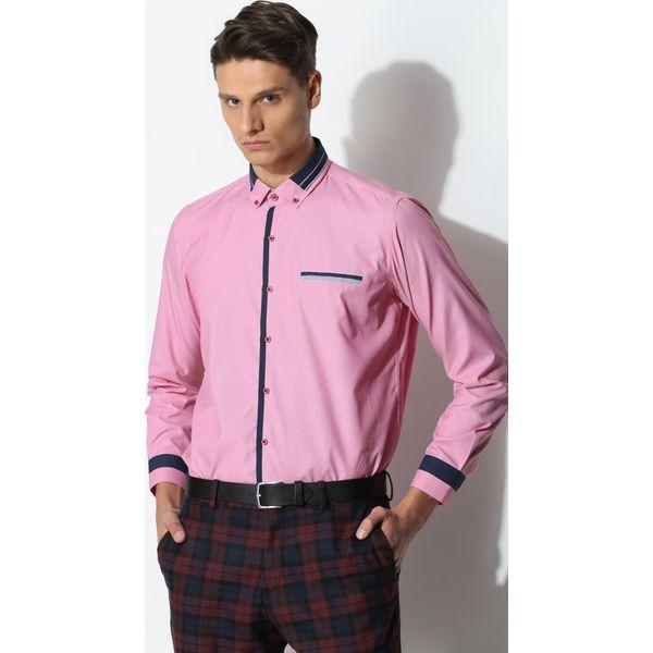 dcd7d5948535 Różowa Koszula Modern Class - Czerwone koszule męskie marki Born2be ...