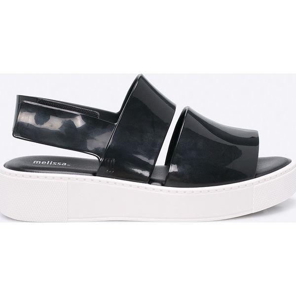 43f96e3f81a7a Melissa - Sandały Bco - Szare sandały damskie marki Melissa, z ...