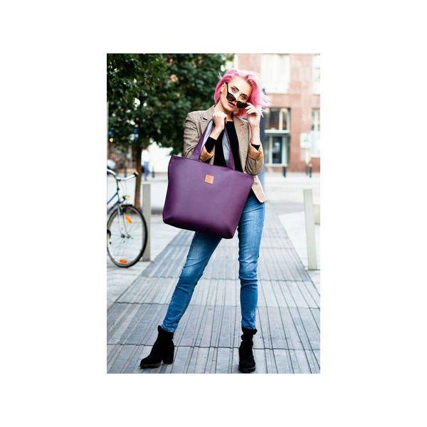 1a0a32f4bade4 Torba Mili City Bag MCB 2 - fioletowa - Fioletowe shopperki damskie ...