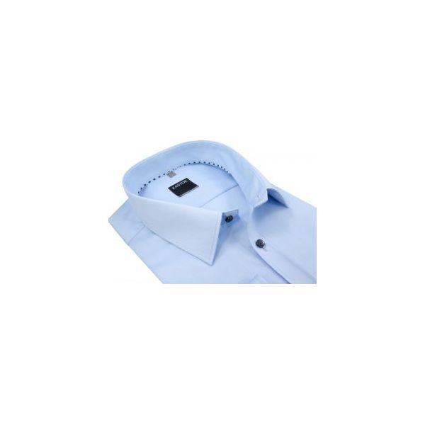 86c38f57554122 Błękitna koszula męska z kieszonką K59 - Koszule męskie Kastor ...