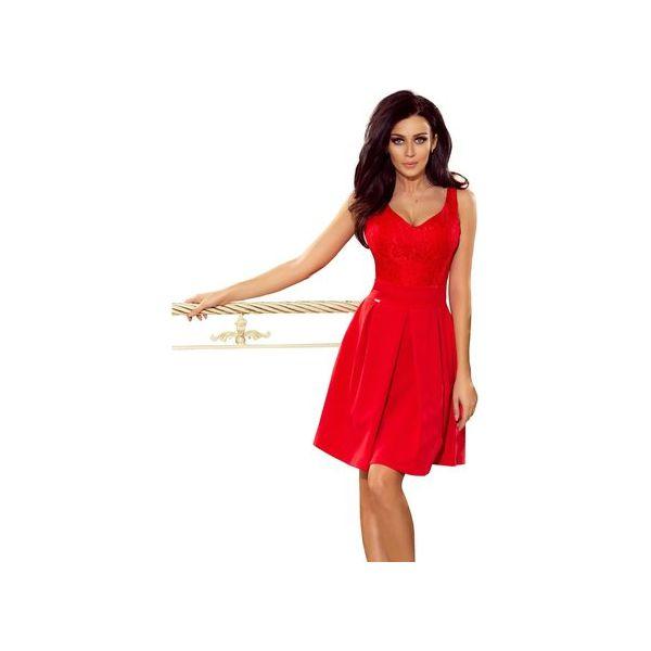 e60f17fb86 Sukienka na ramiączka z koronkową dopasowaną górą i lekko ...
