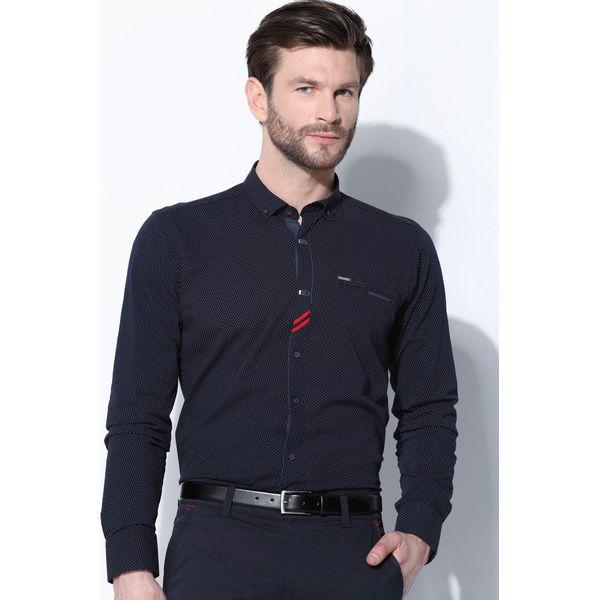 8468ea422b480 Granatowa Koszula Riding Anchor - Niebieskie koszule męskie marki ...