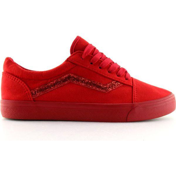 Trampki Vansówki czerwone B318 10 Red