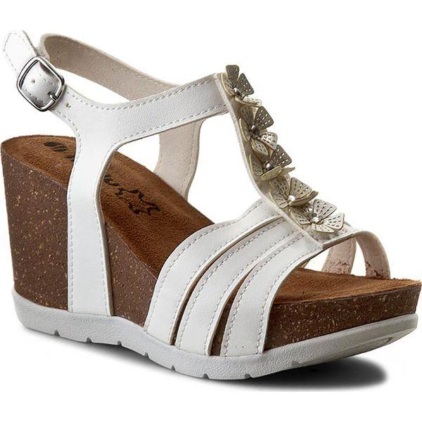 13b2b7cfec188 Sandały INBLU - TC000008 Biały - Białe sandały damskie marki Inblu ...