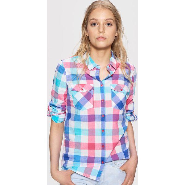 eee3ca223b25f7 Koszula w kratę - Niebieski - Koszule damskie Cropp. W wyprzedaży za ...