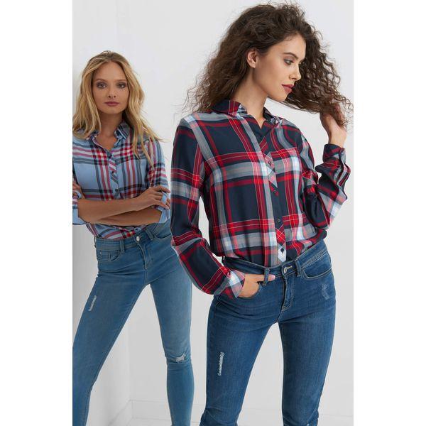 2eaf948b920ad9 Koszula w kratę - Niebieskie koszule damskie Orsay, z tkaniny ...