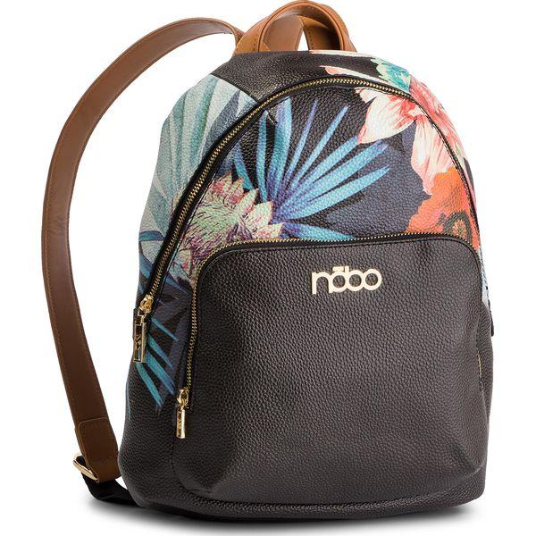 0ec001c00004b Plecak NOBO - NBAG-G2160-C020 Czarny Kolorowy - Czarne plecaki ...