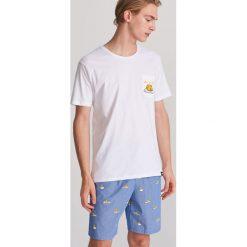 2e2638f647a8dd Bawełniana piżama z szortami - Granatowy. Niebieskie piżamy męskie Reserved,  l, bez wzorów