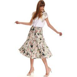 Zwiewna plisowana spódnica midi w jasny kwiatowy wzór