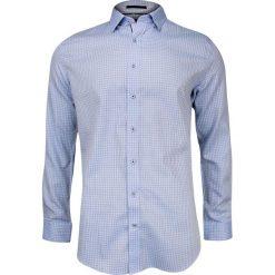 Niebieska Lniana Koszula z Krótkim Rękawem REY JAY w