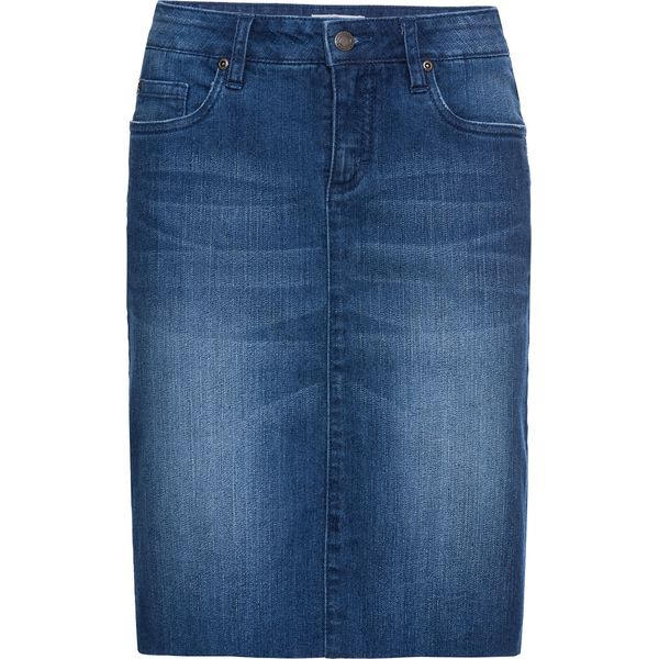 e874ca03 Spódnica dżinsowa ze stretchem bonprix niebieski