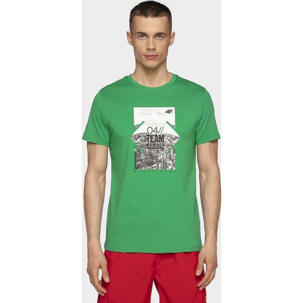 41fa6dc4d T-shirt męski TSM013 - zielony - T-shirty męskie marki 4F. Za 49.99 ...