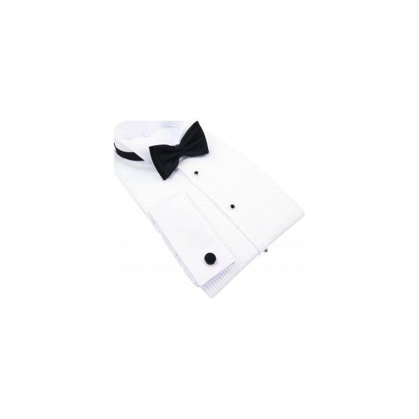 8ebb162c5783ed Biała koszula smokingowa Kastor slim i klasyczna K1 - Koszule męskie ...