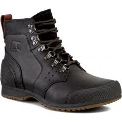 0cf336815ca49 Kozaki SOREL - Ankeny Mid Hiker NM2100 Black/Tobacco 010. Czarne buty  zimowe męskie