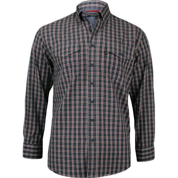 Męska Koszula Weekendowa w Kratę z Krótkim Rękawem, Casual