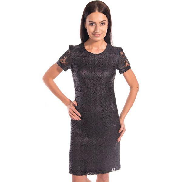 93db8302ac Czarna koronkowa sukienka BIALCON - Sukienki damskie marki BIALCON ...