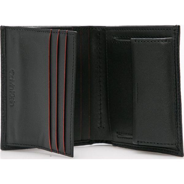 2ebc4ef6c6b94 Calvin Klein - Portfel skórzany - Czarne portfele męskie Calvin ...