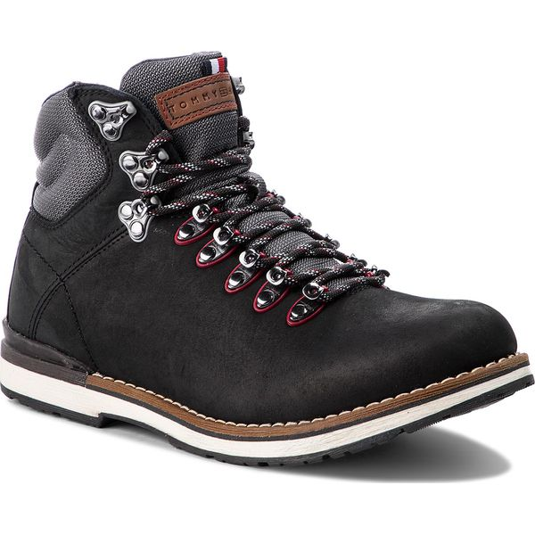 8d3fd005601c9 Trapery TOMMY HILFIGER - Outdoor Hiking Detail Boot FM0FM01755 Black ...