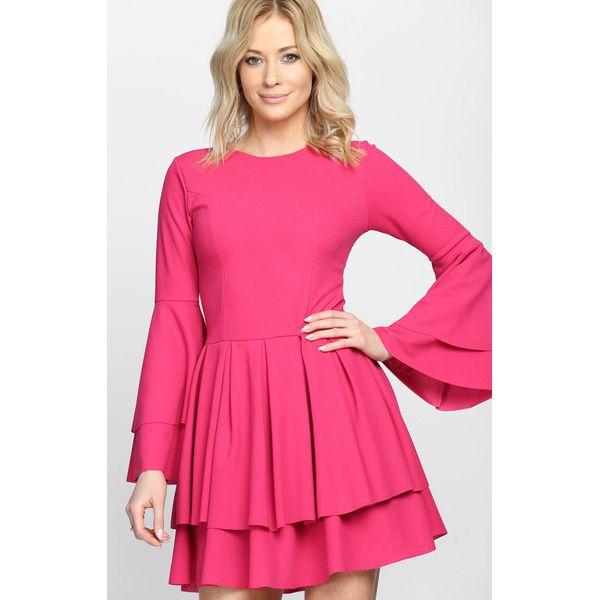 300ebc61e7 Fuksjowa Sukienka Hippie Dress - Sukienki damskie marki Born2be. Za ...