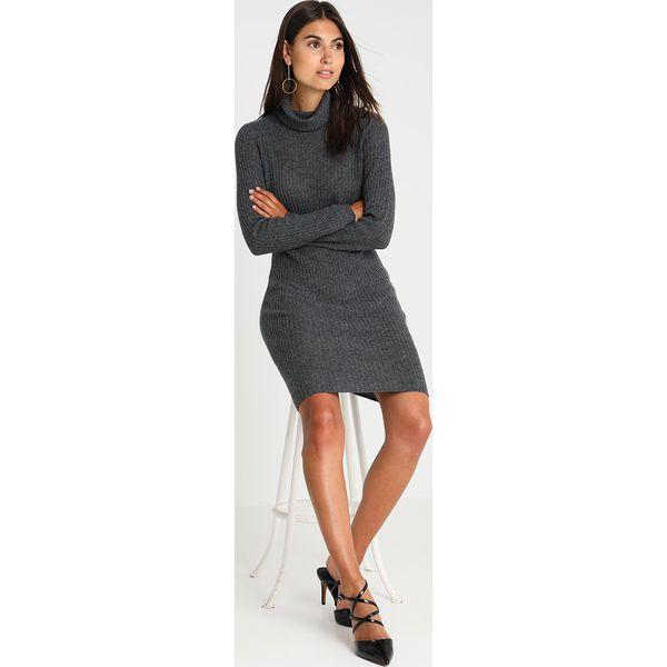 9e924666f0 Zalando Essentials Sukienka dzianinowa charcoal gray - Sukienki ...