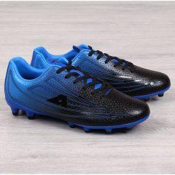Korki piłkarskie męskie czarno niebieskie American Club czarny niebieski