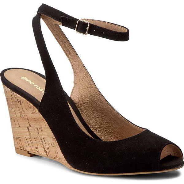 8451e200aeb5f Sandały GINO ROSSI - Olivia DCH344-W40-4900-9900-0 99 - Czarne sandały damskie  marki Gino Rossi, z materiału, na obcasie. W wyprzedaży za 269.00 zł.