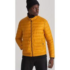 Pikowana kurtka ze stójką Żółty