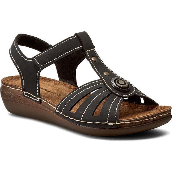 5cda6c2cc6aec Sandały INBLU - CX11AQ15 Czarny - Czarne sandały damskie marki Inblu, z  materiału, na obcasie. Za 79.99 zł. - Sandały damskie - Obuwie damskie -  Buty ...