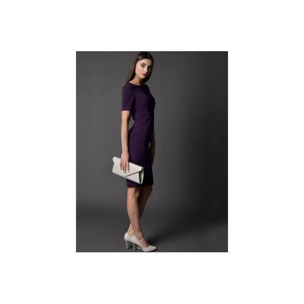 ab244fc49 sukienka klasyczna ESTHER - Fioletowe sukienki damskie Rahri, l, z ...