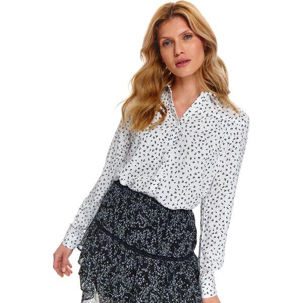 Printowana koszula damska Białe koszule damskie TOP SECRET  9Q8CW