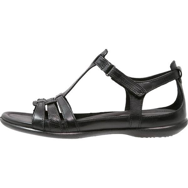 30c1da752ae63 ecco FLASH Sandały black - Czarne sandały damskie marki ecco, z ...