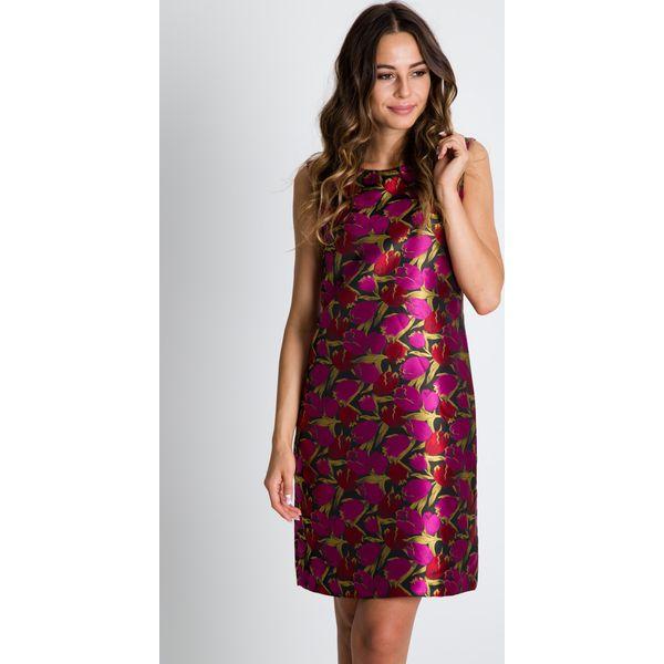 f2de514b97 Prosta żakardowa sukienka we wzory BIALCON - Sukienki damskie marki ...