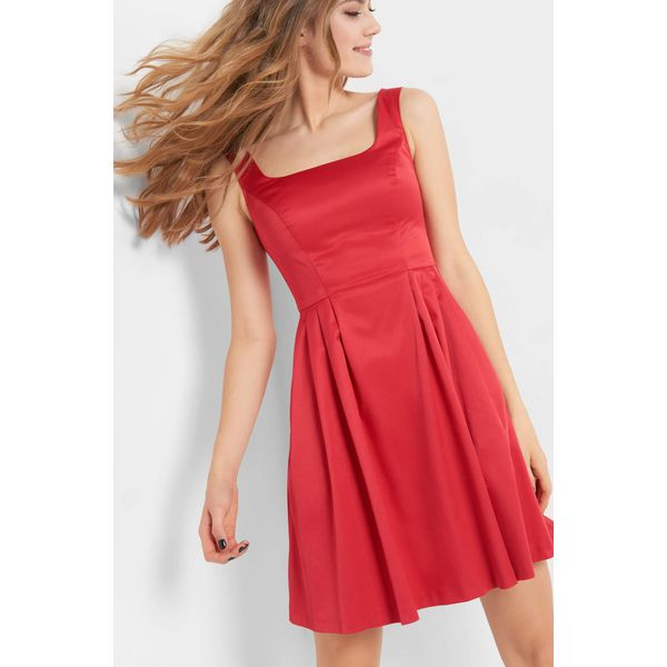 15a4e1aede Sukienka z dekoltem karo - Czerwone sukienki damskie marki Orsay