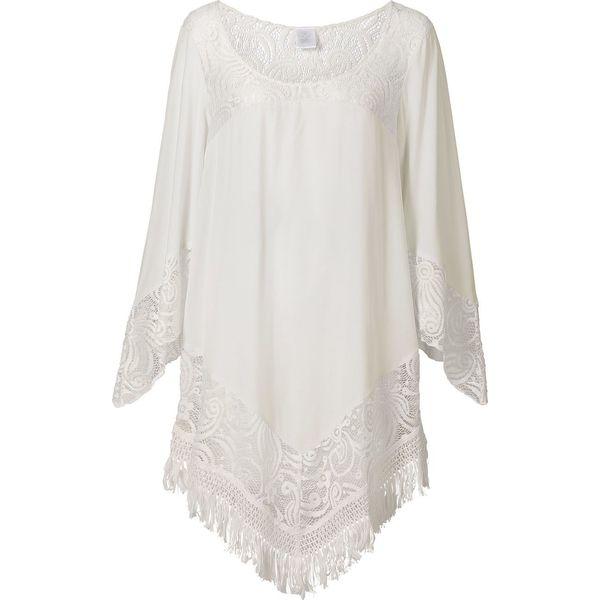 d999a2f918 Tunika plażowa bonprix biały - Białe sukienki damskie marki bonprix ...