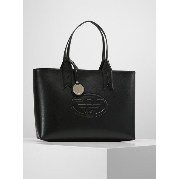 b47002984f0de Emporio Armani SHOPPING BAG LOGO DEBOSSED SHOPPER ZIP Torebka nero ...