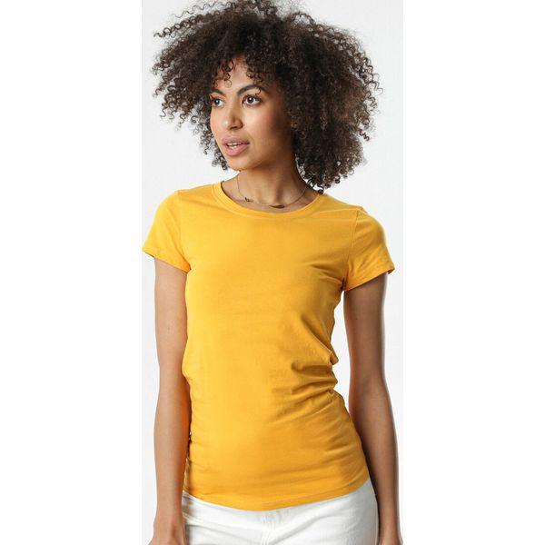 Niebieski T shirt Chenelin Niebieskie t shirty damskie