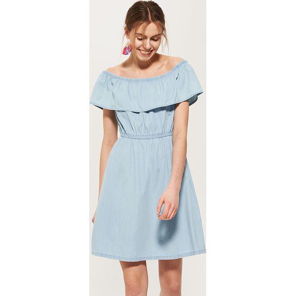 c74dc43dba Denimowa sukienka hiszpanka - Niebieski - Niebieskie sukienki ...