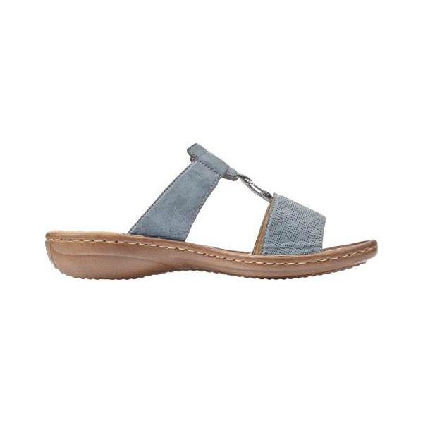 Moda Sandały Damskie Rieker Niebieski | Online