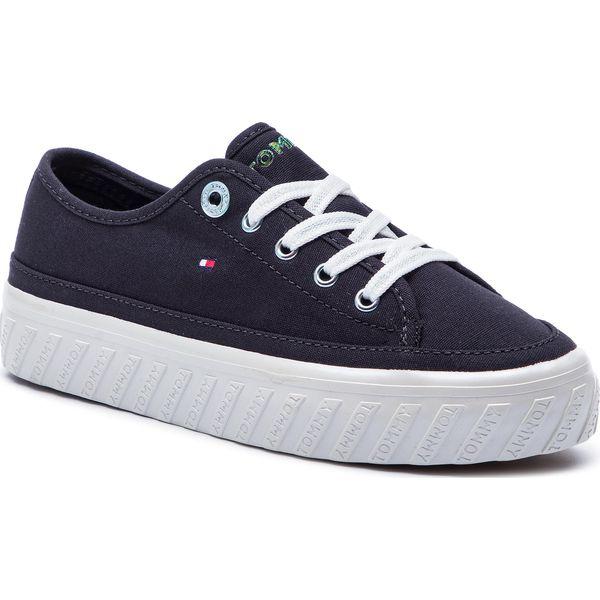 b405e9696d687 Tenisówki TOMMY HILFIGER - Outsole Detail Flatform Sneaker ...