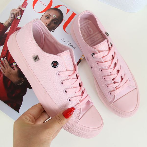 Trampki BIG STAR AA274028 Pink Czerwone trampki i