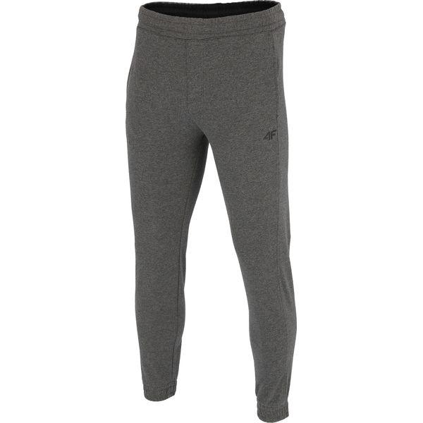 417afba7f Spodnie dresowe męskie SPMD001 - ciemny szary melanż - Szare spodnie  sportowe męskie marki 4F, m, melanż, z bawełny. W wyprzedaży za 99.99 zł.