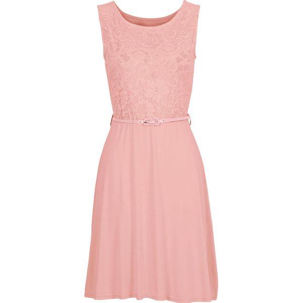 ad3d13bff1 Sukienka z dżerseju z koronką bonprix dymny różowy - Sklep Radio ZET